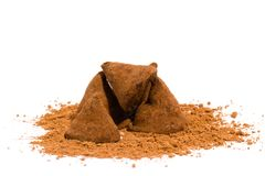 Chocoladetruffels Royalty-vrije Stock Afbeelding