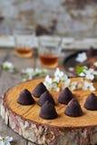 Chocoladetruffels Stock Afbeeldingen