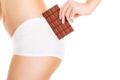 Chocoladeuiteinde Stock Foto's