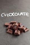 Chocoladevierkanten Royalty-vrije Stock Afbeeldingen