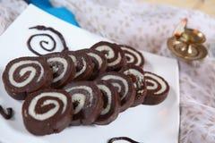 Chocoladevuurraderen royalty-vrije stock fotografie
