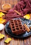 Chocoladewafeltje stock foto's