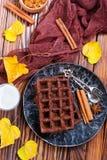 Chocoladewafeltje stock foto
