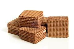 Chocoladewafeltjes stock fotografie