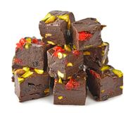 Chocoladezachte toffee stock fotografie