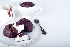 Chocoladezefier en kop van koffie Royalty-vrije Stock Afbeelding