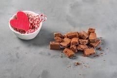 Chocolat aéré par lait Images libres de droits