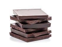 Chocolat amer sur le fond blanc Images libres de droits