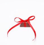Chocolat attaché de noeud Image libre de droits