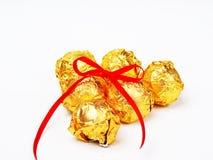 Chocolat attaché de noeud Images libres de droits