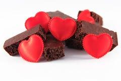 Chocolat avec amour image libre de droits