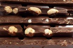 Chocolat avec des écrous Photographie stock libre de droits