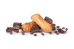 Chocolat avec des biscuits image stock