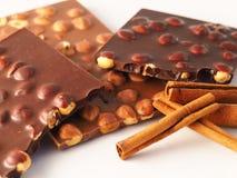 Chocolat avec des ingrédients Images stock