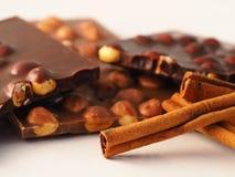 Chocolat avec des ingrédients Photographie stock