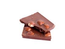 Chocolat avec des noisettes Photo libre de droits