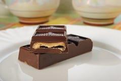 Chocolat avec le remplissage crème Photographie stock libre de droits