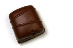 Chocolat avec les pistes brunes Photographie stock