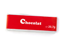 Chocolat Bar  With Clipping Path Stock Photography