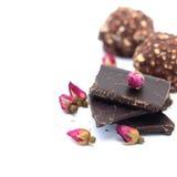 Chocolat, bonbons au chocolat pour la Saint-Valentin Images libres de droits