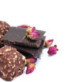 Chocolat, bonbons au chocolat pour la Saint-Valentin Photos stock