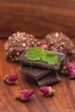 Chocolat, bonbons au chocolat pour la Saint-Valentin Images stock