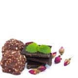 Chocolat, bonbons au chocolat pour la Saint-Valentin Image libre de droits