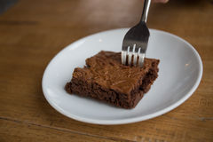 Chocolat Brownie Cake images stock