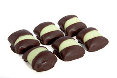 Chocolat candy. Isolated over white Royalty Free Stock Image