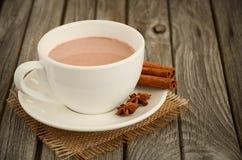 Chocolat chaud avec des épices Images stock