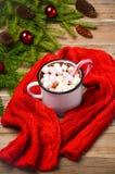 Chocolat chaud avec des guimauves Image stock