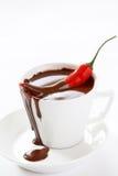 Chocolat chaud avec le /poivron image stock