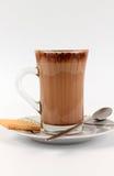 Chocolat chaud et un biscuit Photos libres de droits