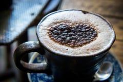 Chocolat chaud pendant un jour froid Photographie stock