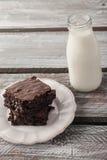 Chocolat Chip Brownie décadent photographie stock