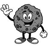 Chocolat Chip Cookie Waving Illustration Photographie stock