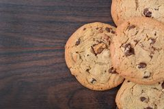Chocolat Chip Cookies Photos libres de droits