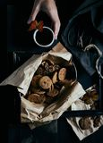 Chocolat Chip Cookies Photos libres de droits