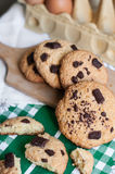 Chocolat Chip Cookies Photographie stock libre de droits