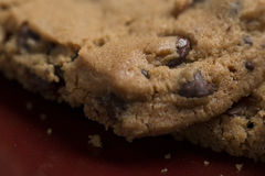 Chocolat Chip Cookies du plat 12 image libre de droits