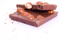 Chocolat con las tuercas Foto de archivo