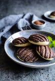 Chocolat Conchas - pains mexicains doux image libre de droits