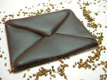 Chocolat - courrier Photo stock