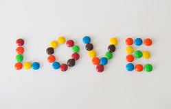 Chocolat d'amour Photographie stock