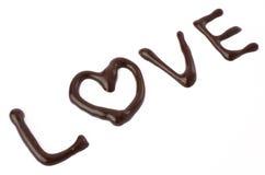 Chocolat d'amour Photos stock