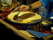 Chocolat d'Au de crêpe Photos stock