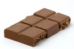 Chocolat d'isolement sur le fond blanc Photos libres de droits