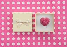 Chocolat dans le boîte-cadeau Photo libre de droits