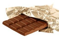 Chocolat dans le clinquant photo stock