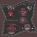 Chocolat de café de logo Image libre de droits